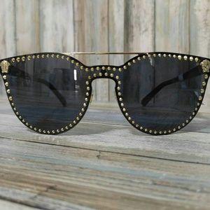 9361d3ae3b7e5 Versace Accessories - New Women s Studded Versace Sunglasses